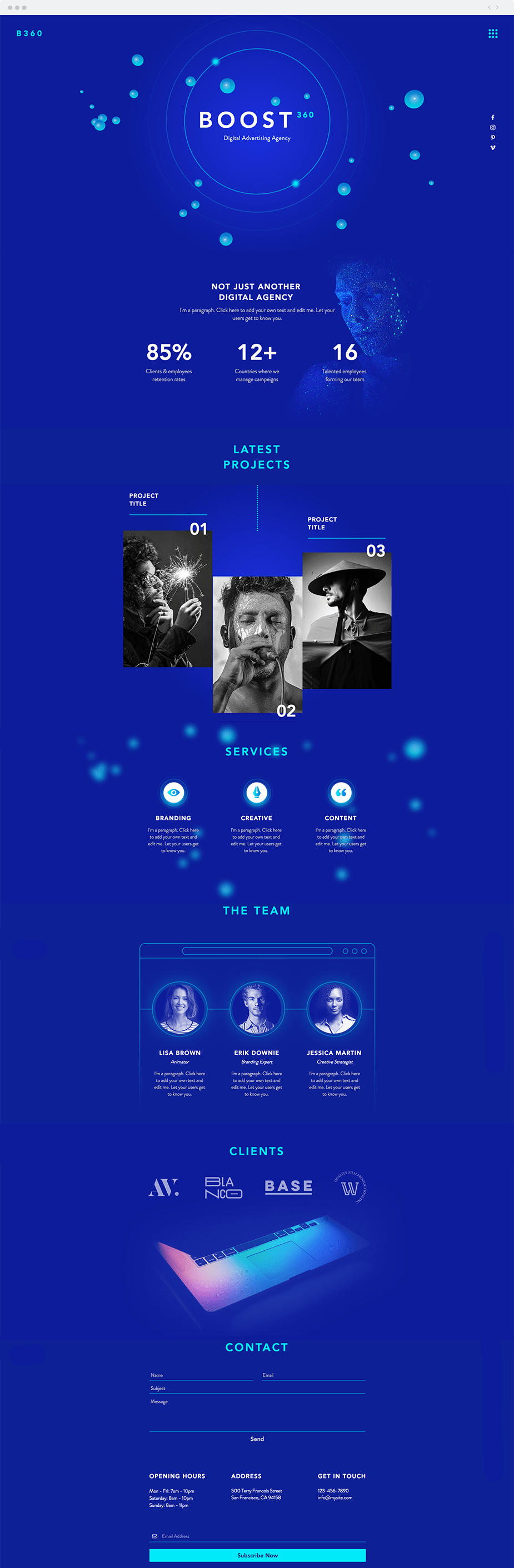 Wix Templates: Digital Advertising Agency