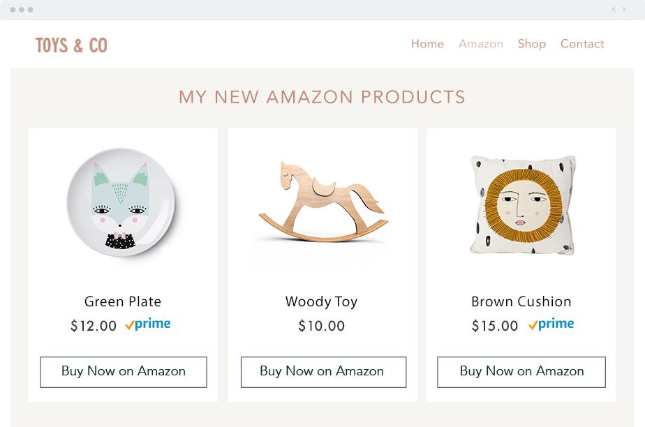 Wix App Market: Amazon
