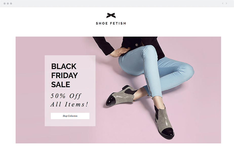 Black Friday Landing Page Text