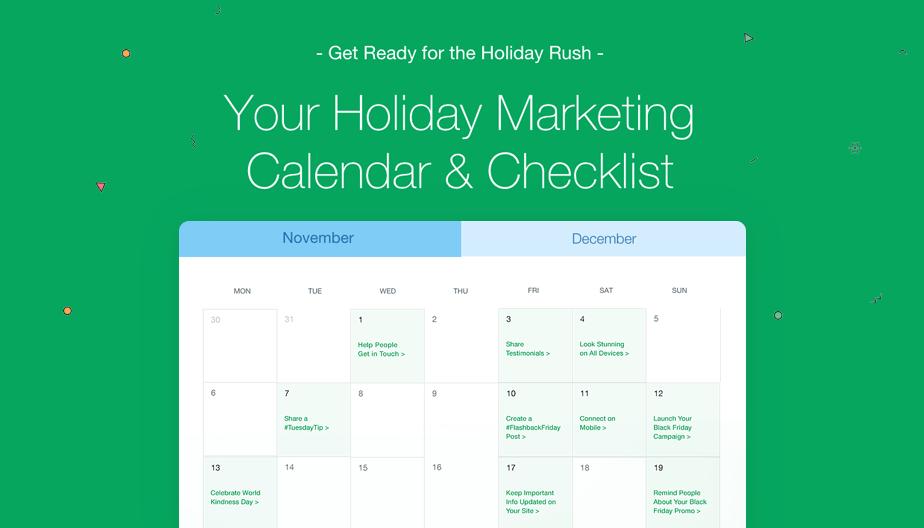 Holiday marketing ideas: calendar & checklist