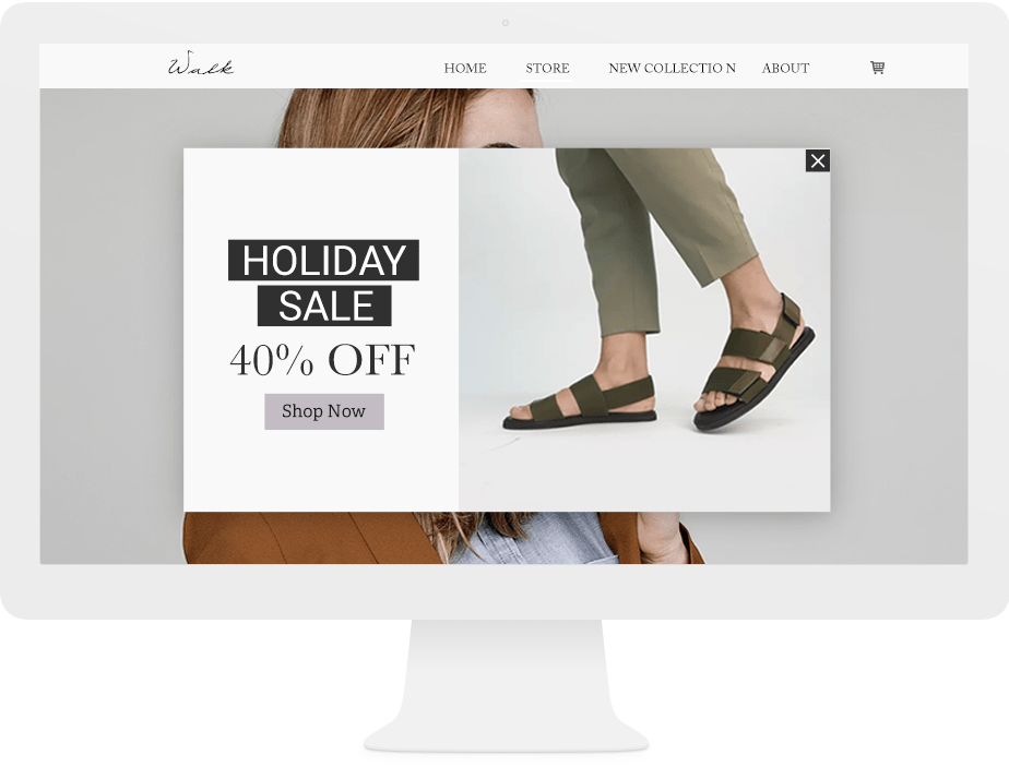 Holiday marketing ideas: offer holidays promotions and sales on your Wix website