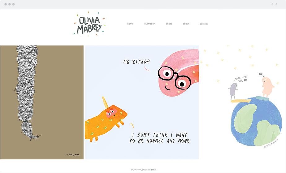 Olivia Mabrey Wix website