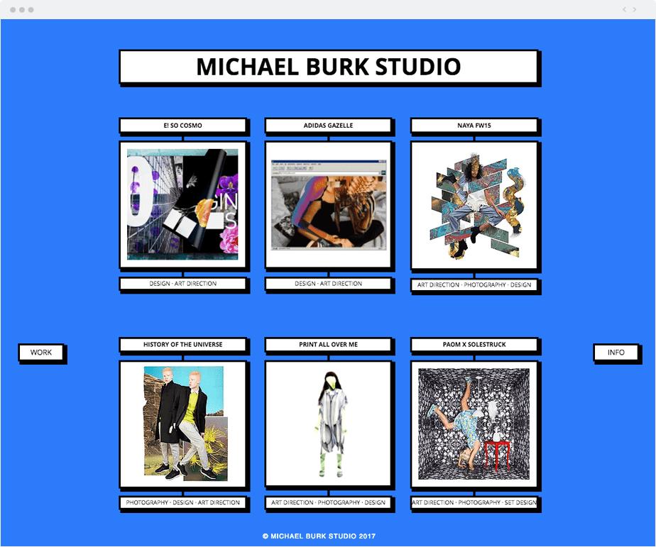 Michael Burk Studio Wix website