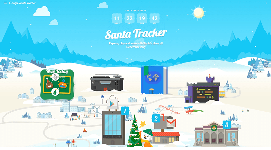 Holiday Marketing Campaigns: Santa Tracker