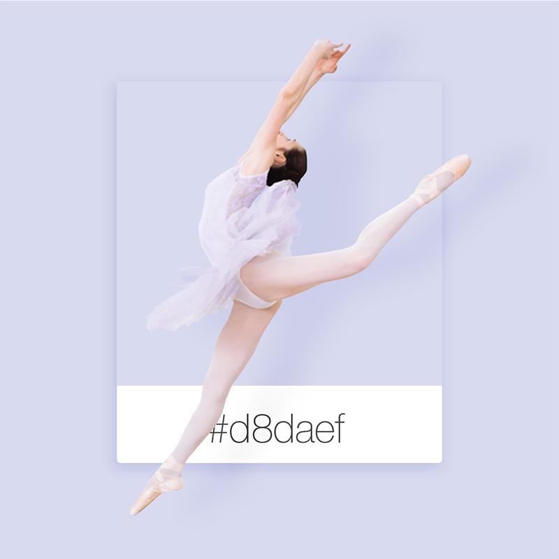 Wix Pinterest color inspiration: ballerina