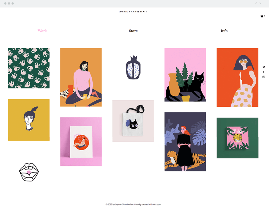 Wix templates: Graphic illustrator
