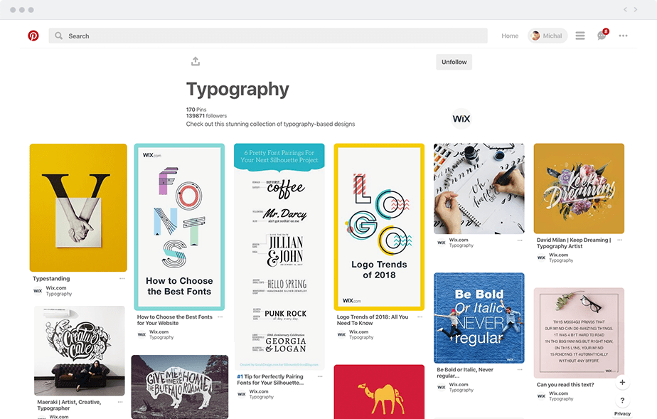 Find the right inspiration: typography