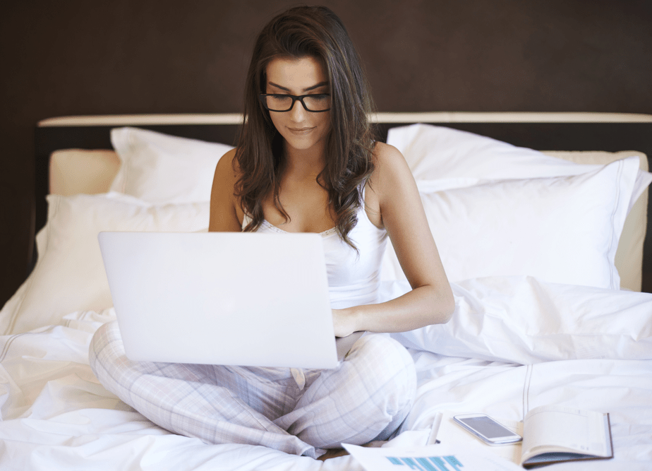 working on your wix website from the comfort of your bed