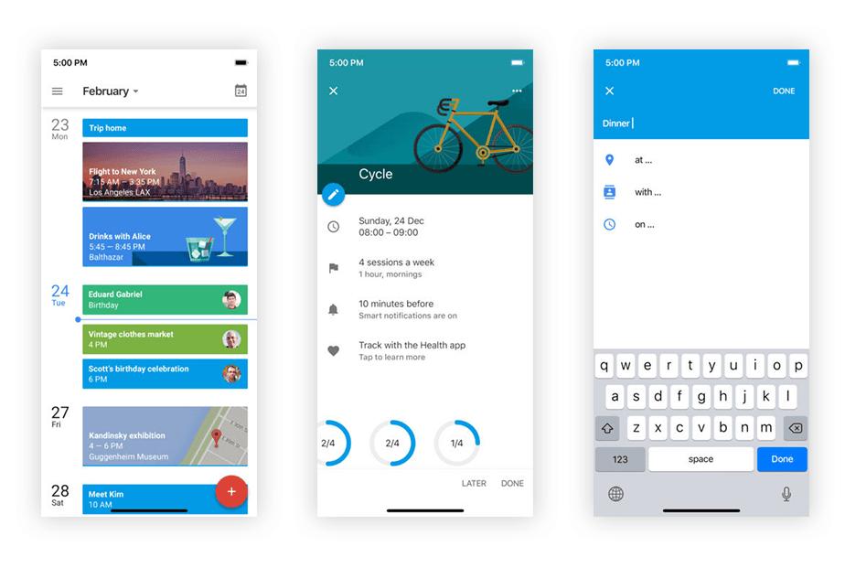 Google calendar mobile business app