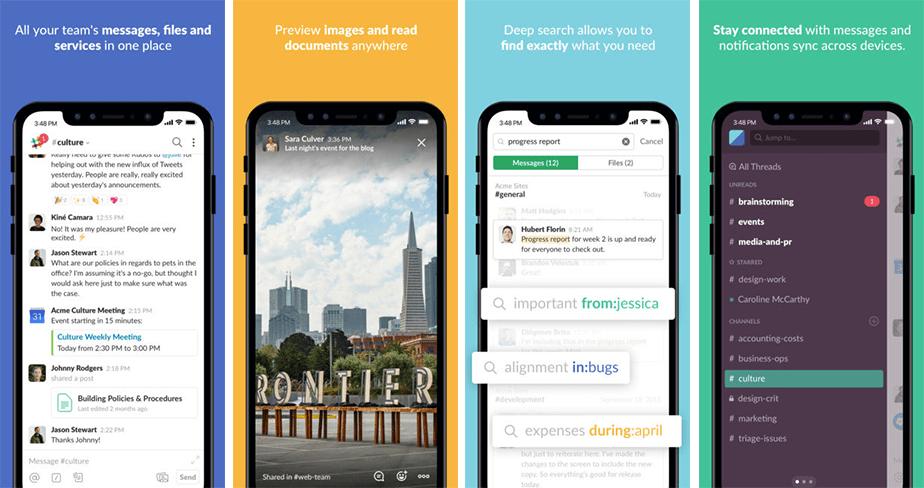 Slack mobile business app