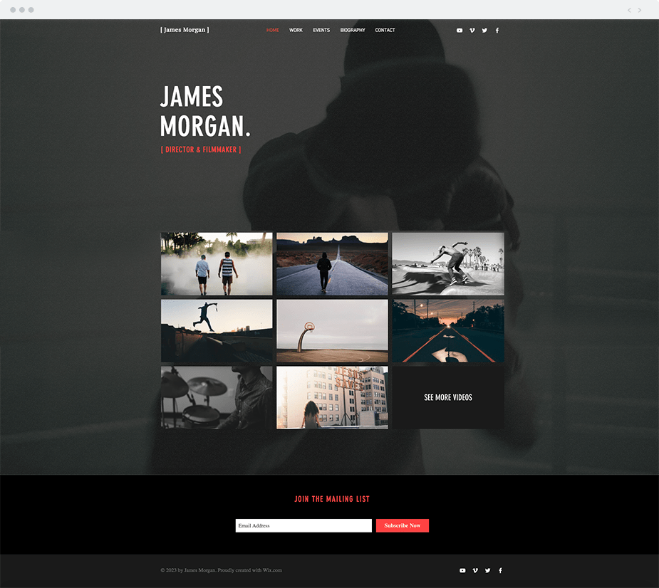 12 Video Website Templates for Film & Entertainment Professionals