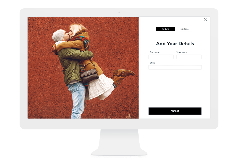 Easy and free registration tool for your wedding website