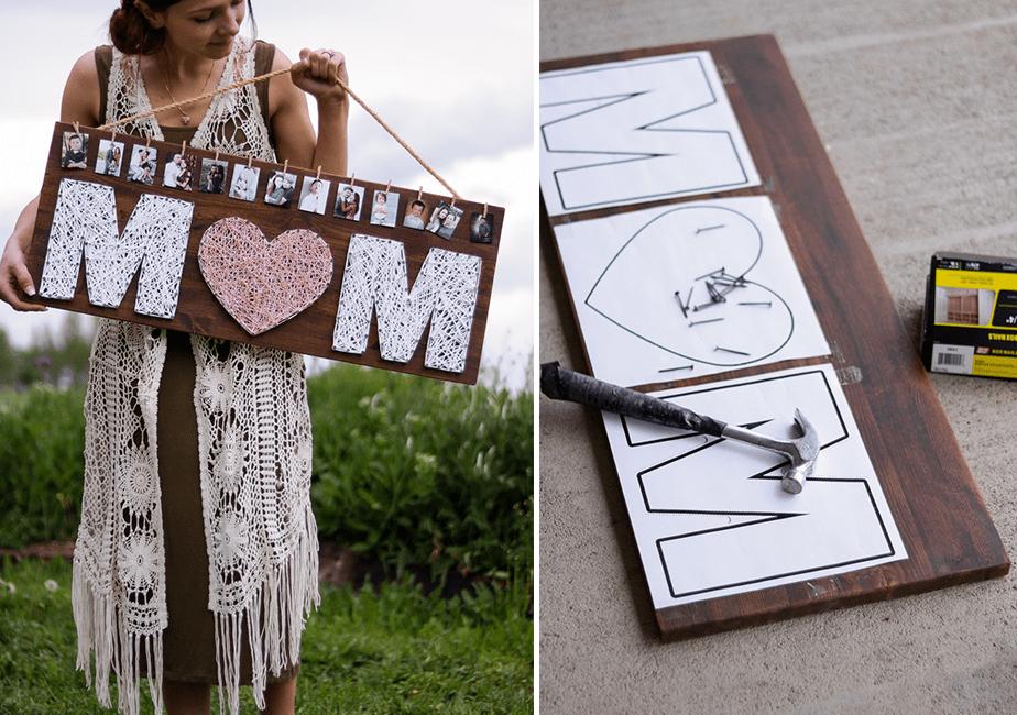 idée de cadeau fête des mères : pancarte DIY