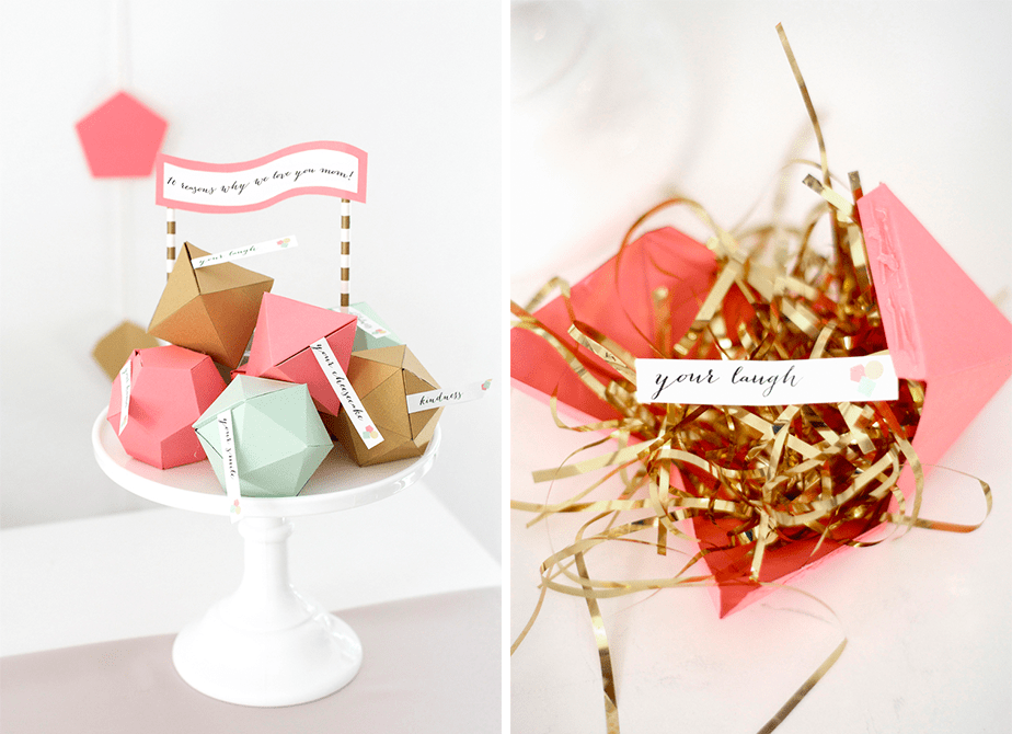 Wix Mother's Day Gift Idea: Pinterest Inspired Reasons I Love You Gems