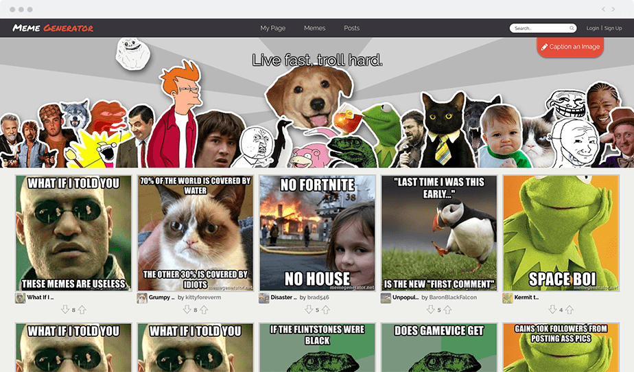 Wix blogging tools - Meme Generator