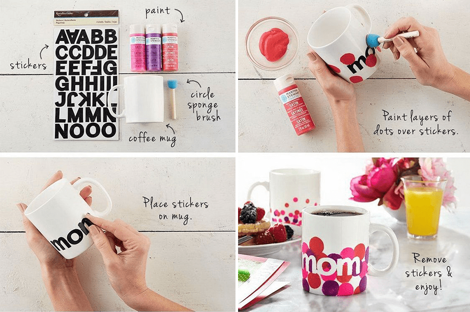 Wix Mother's Day Gift Idea: Pinterest Inspired Hand-painted Mugs
