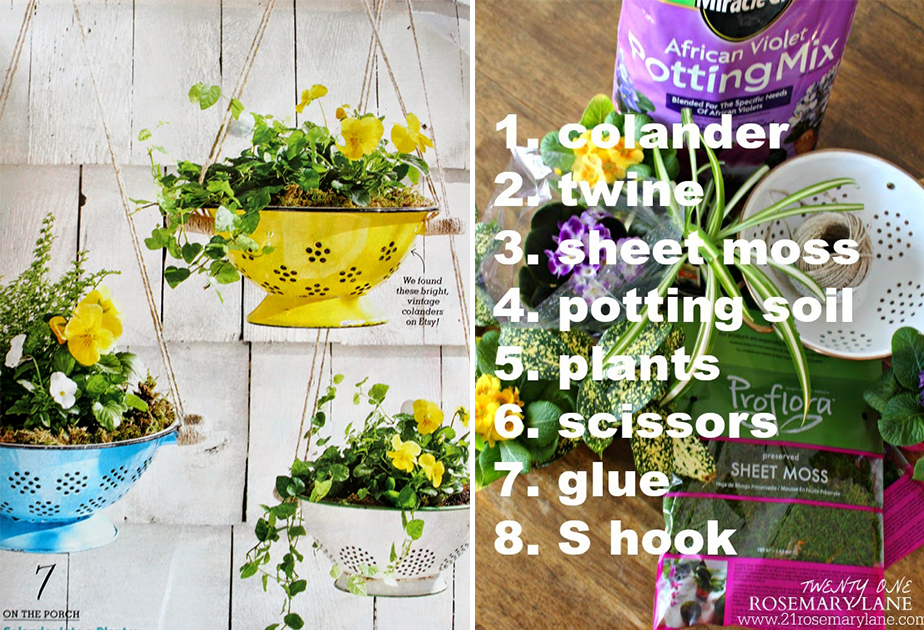 Wix Mother's Day Gift Idea: Pinterest Inspired DIY Colander Planters