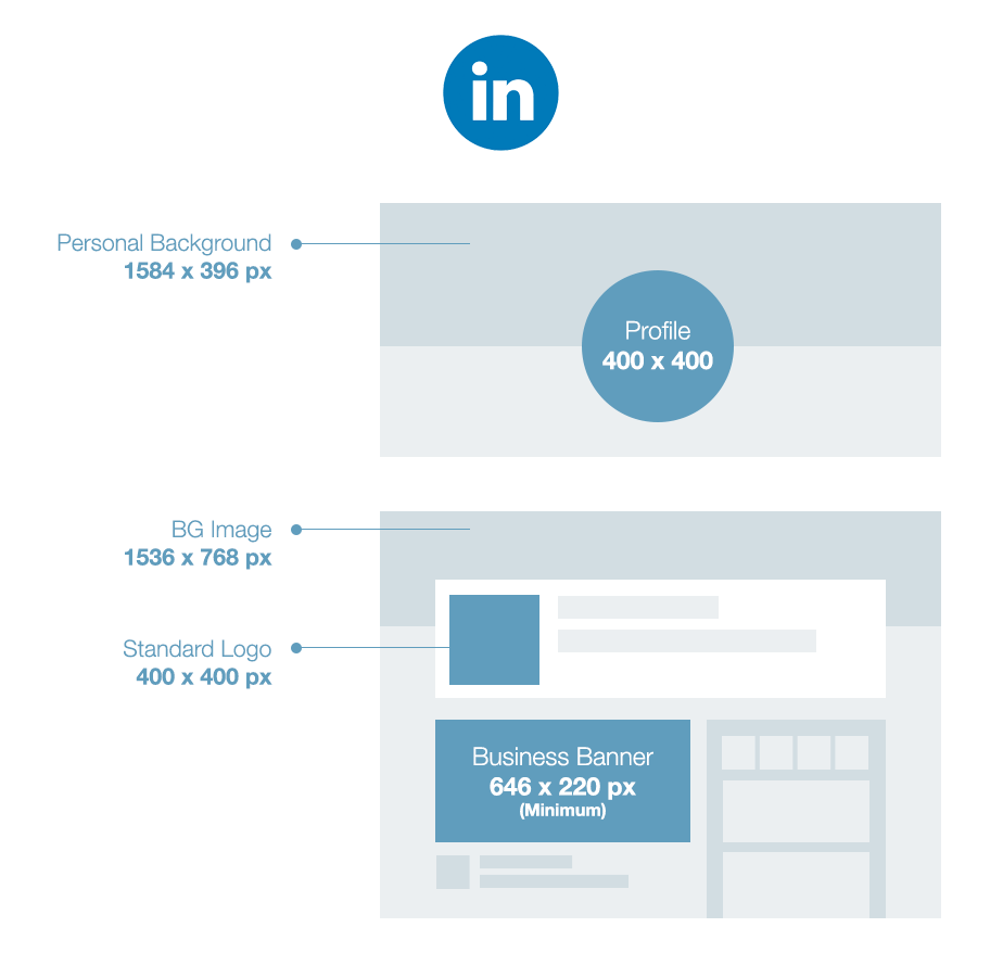 Wix social media size guide: LinkedIn
