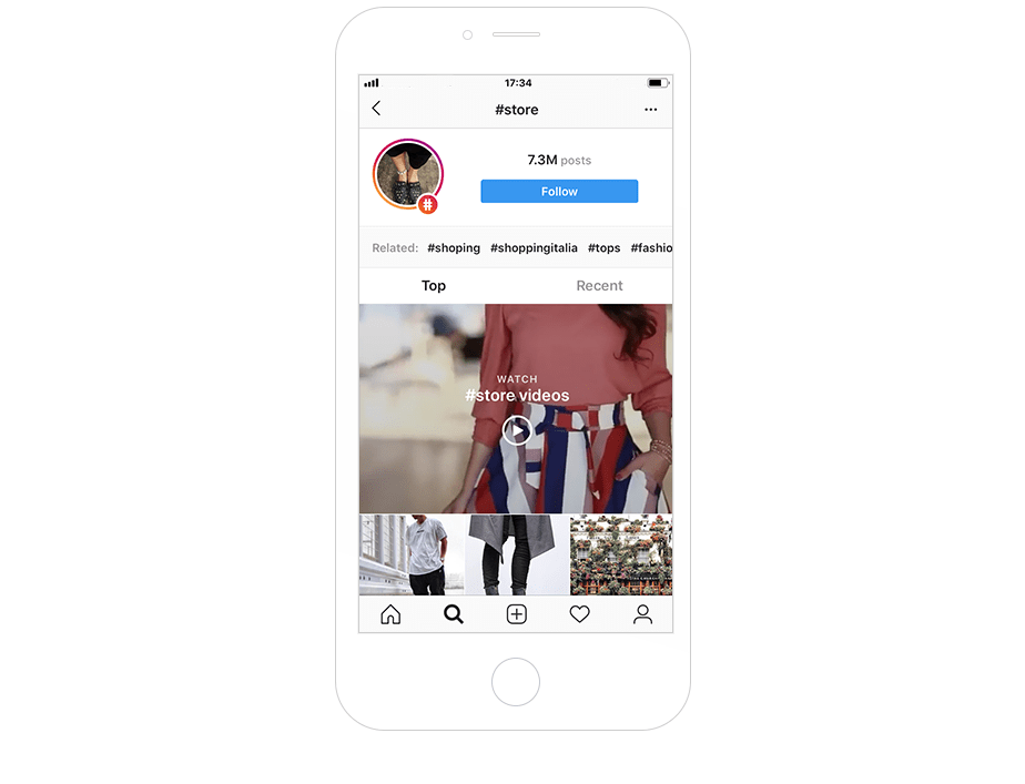 Most popular Instagram hashtags for online stores