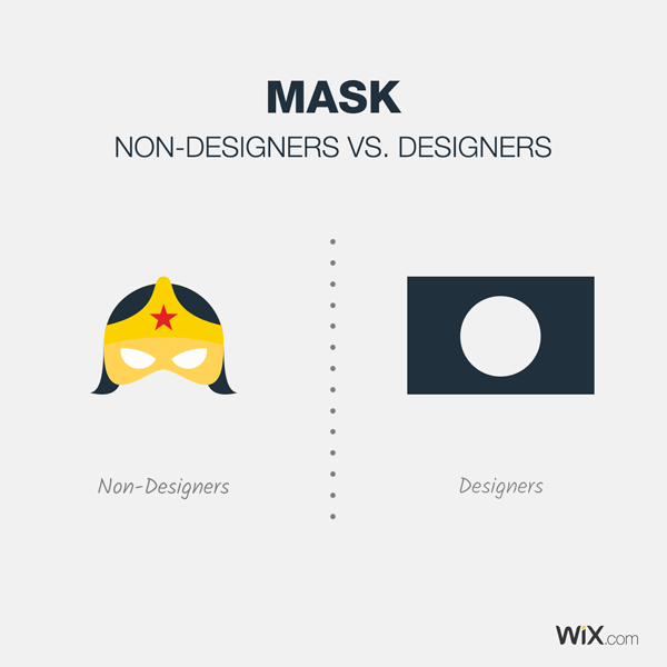 graphic design jokes about what a mask is