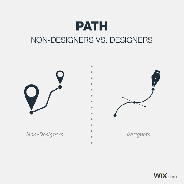 graphic design jokes about what a path is