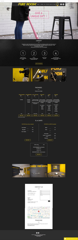 Wix Bookings website: Fury room