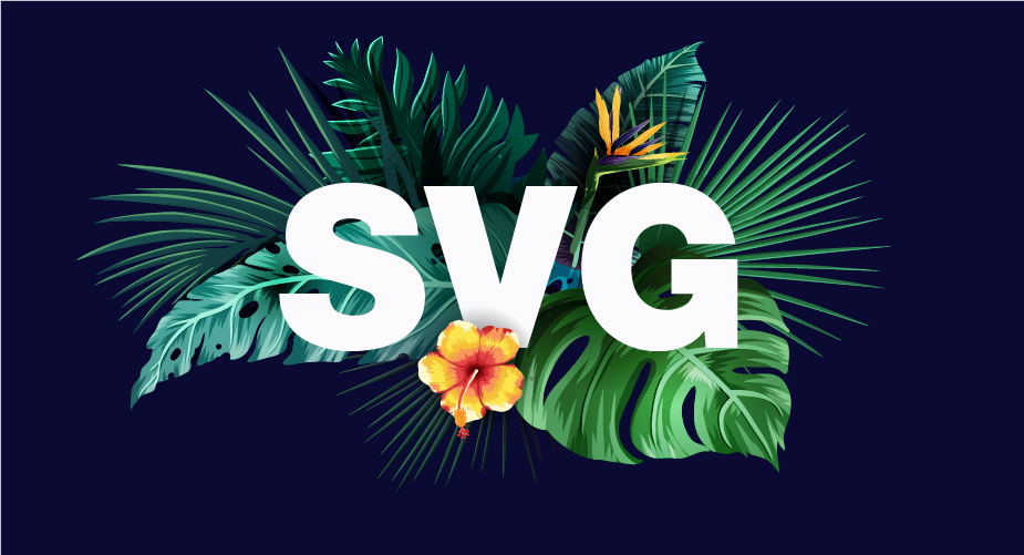 SVG is a common example of the different types of files
