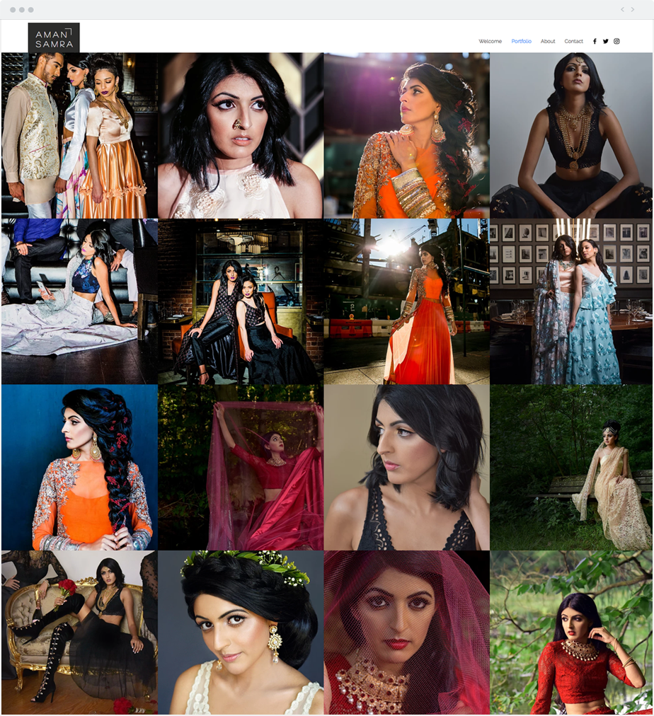 Wix-modelportfolio Aman Samra