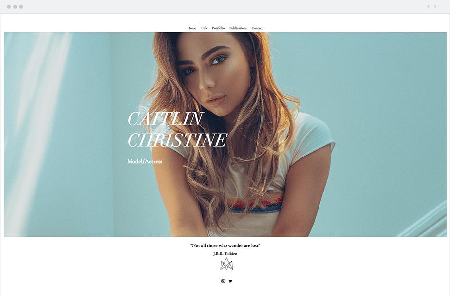 Wix Model Portfolio Caitlin Christine