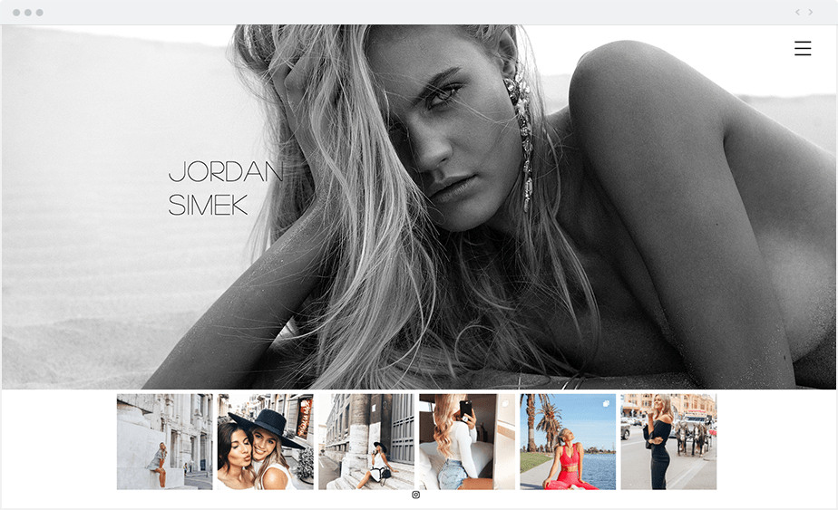 Wix-modelportfolio Jordan Simek