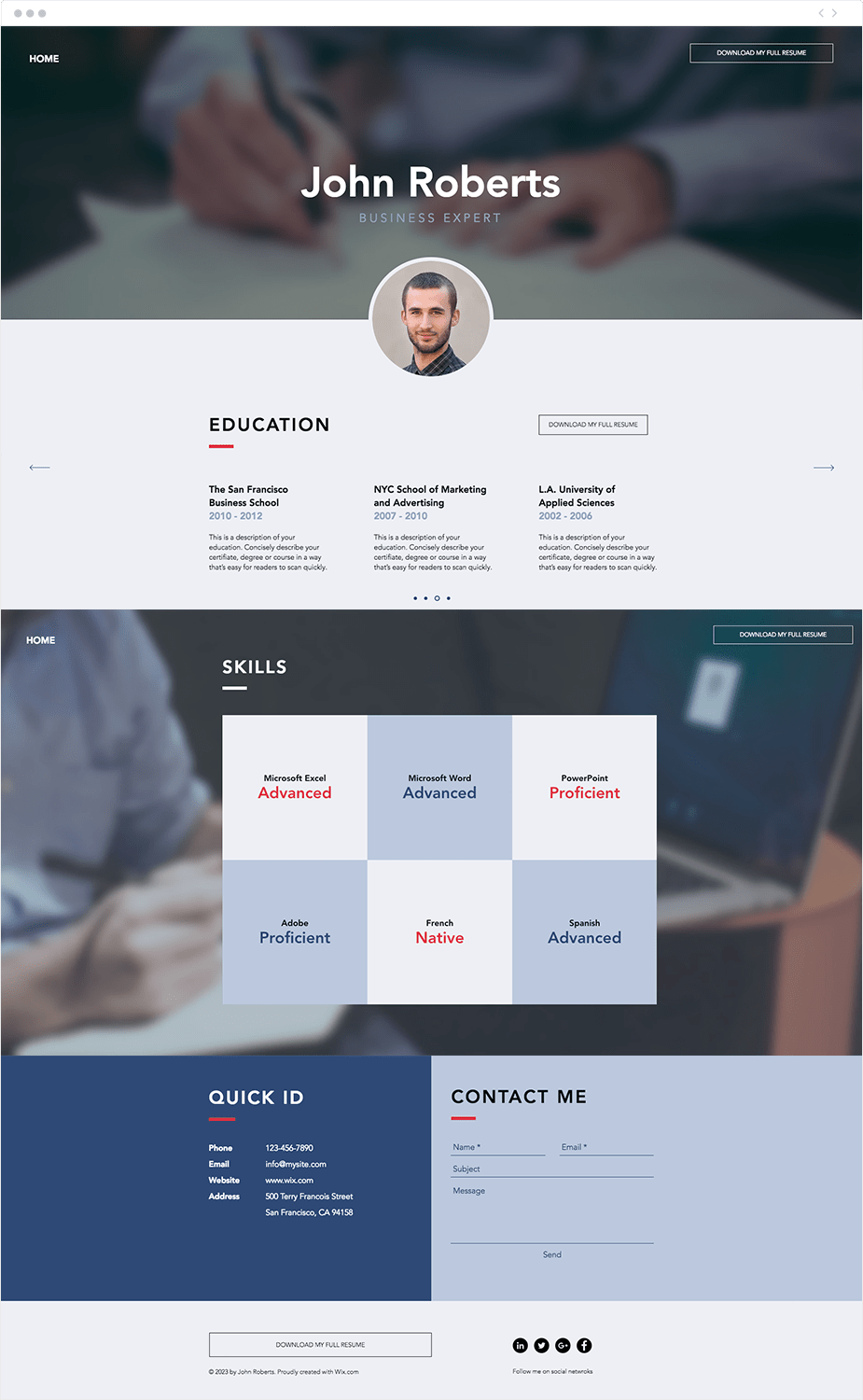 Resume Website Fascinating 48 Polished Resume Website Templates For All Professionals