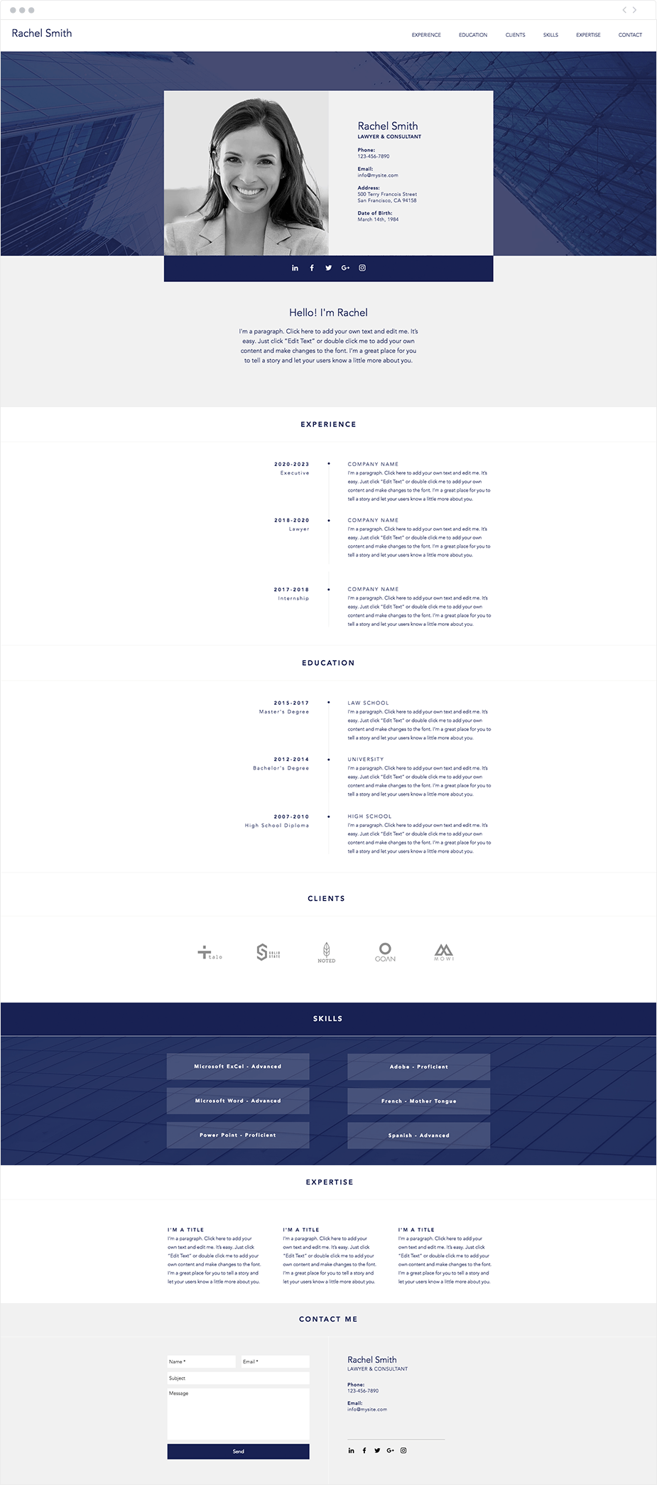 7 Polished Resume Website Templates For All Professionals