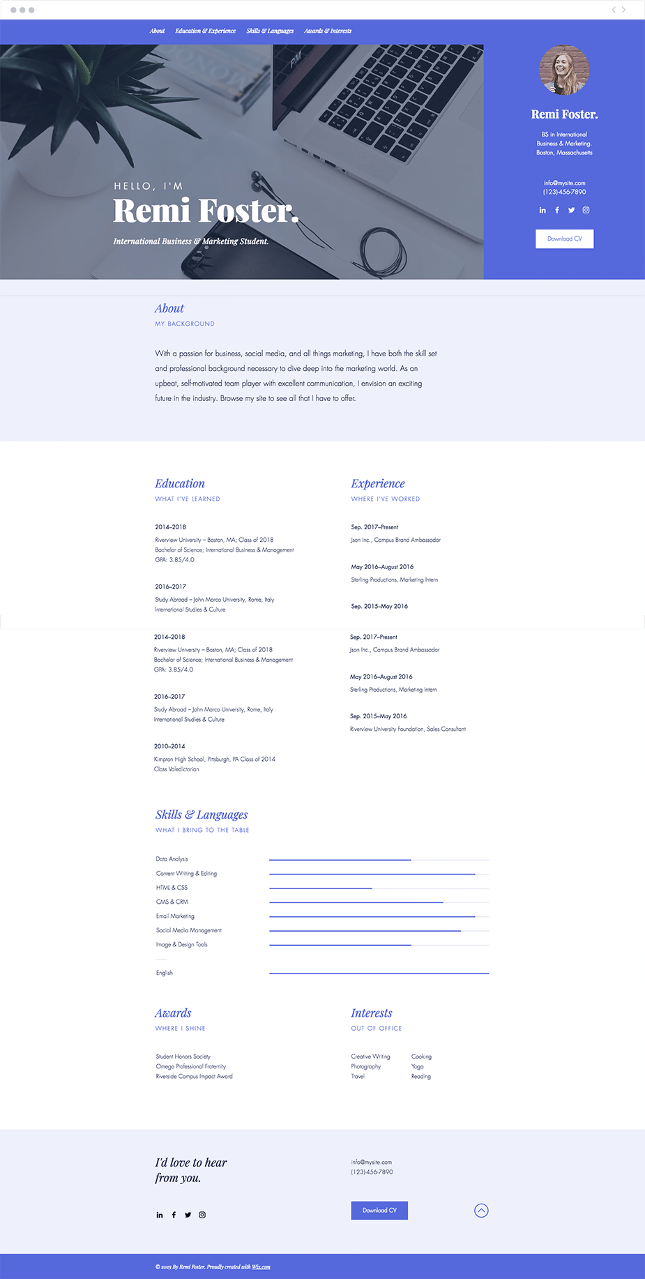 Resume Website Interesting 48 Polished Resume Website Templates For All Professionals