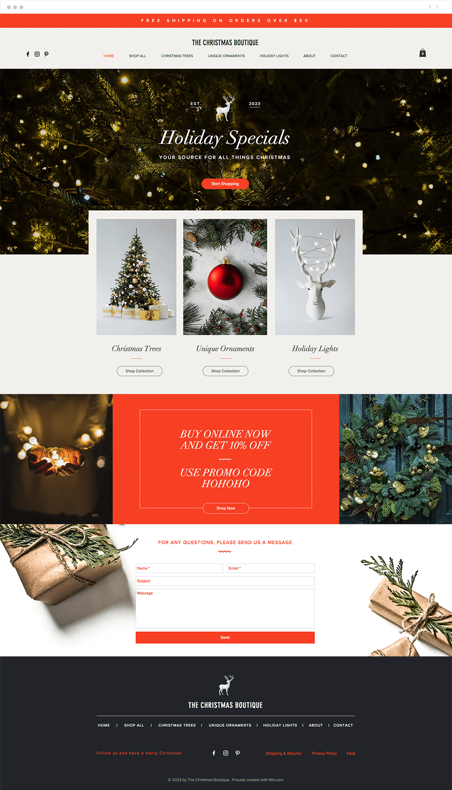 Dress your website up for the holidays