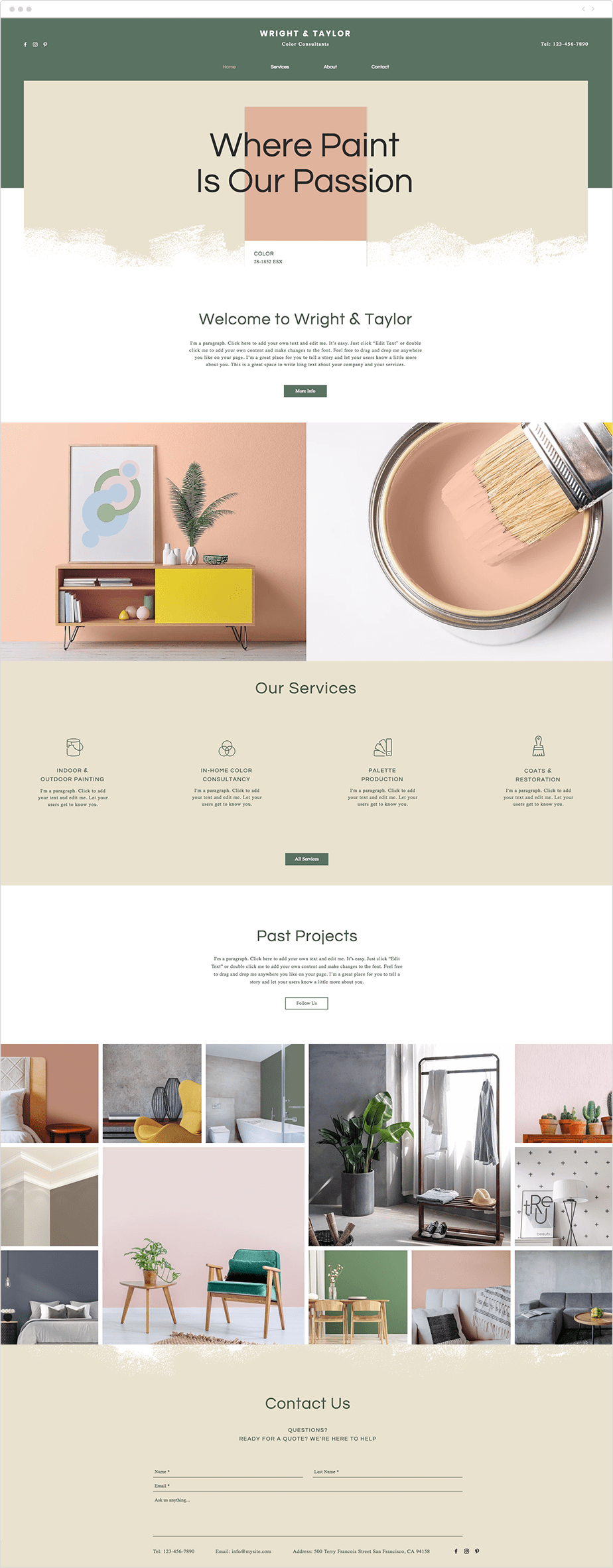 Color experts website template