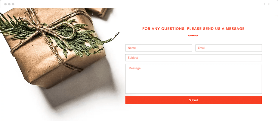 Wix Contact form