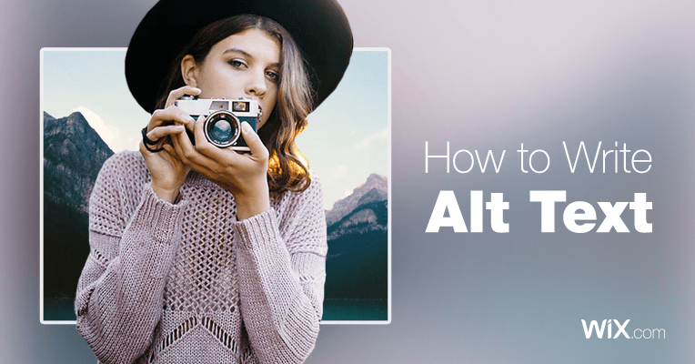 how to add alt text to images in wix