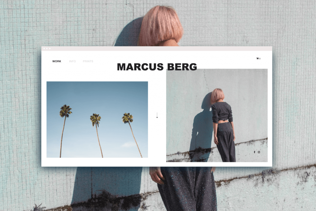 Website Template with Image-Based Grid Layout
