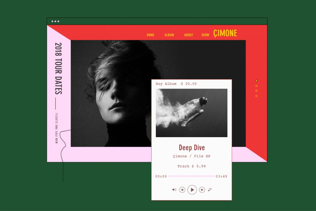 Free Wix website template for professional musicians and bands