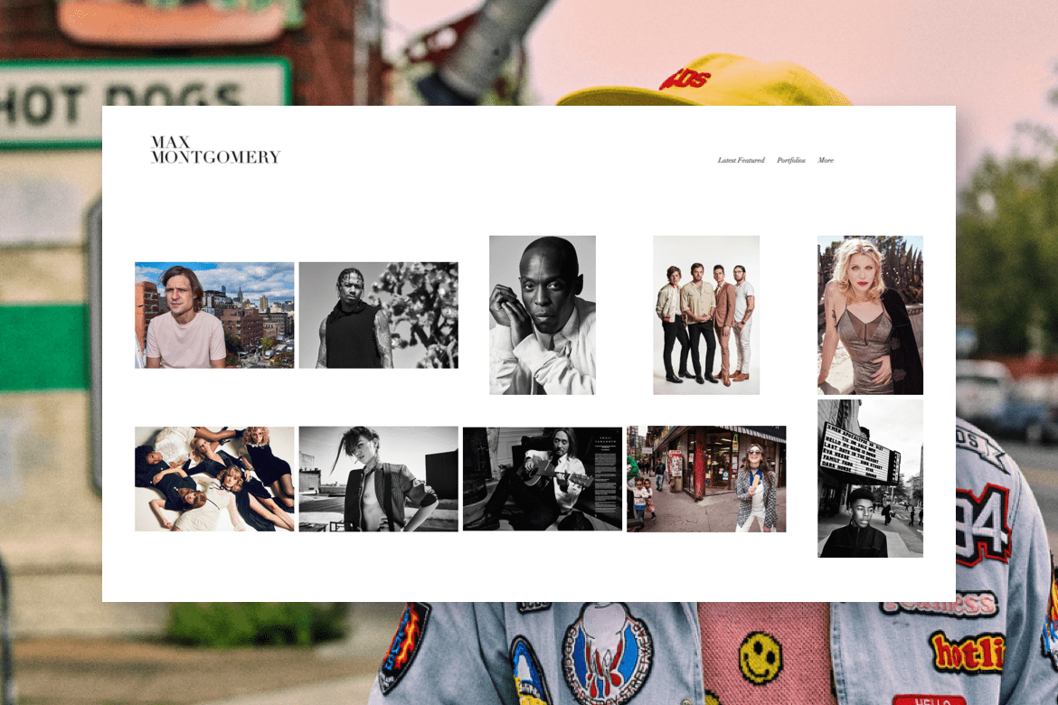 Portrait photography online portfolio with clean grid design