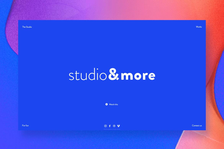 Studio&more web design