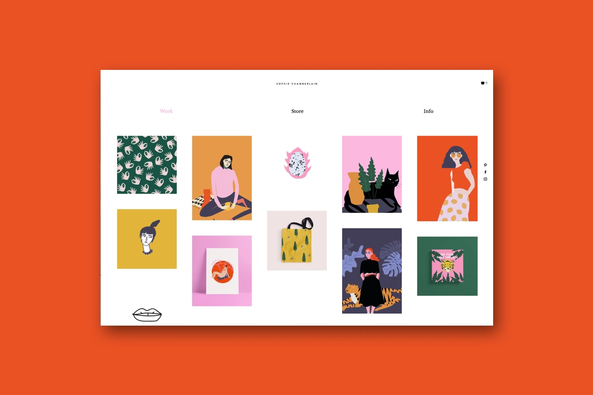 Website template for illustrator's portfolio