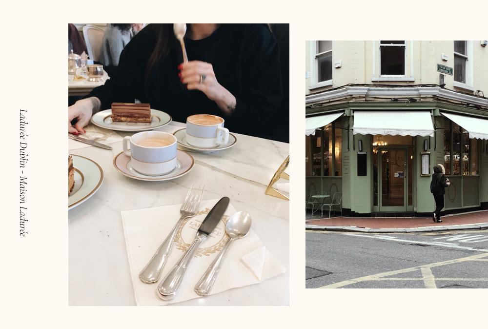 Coffee and cake at Laduree Dublin