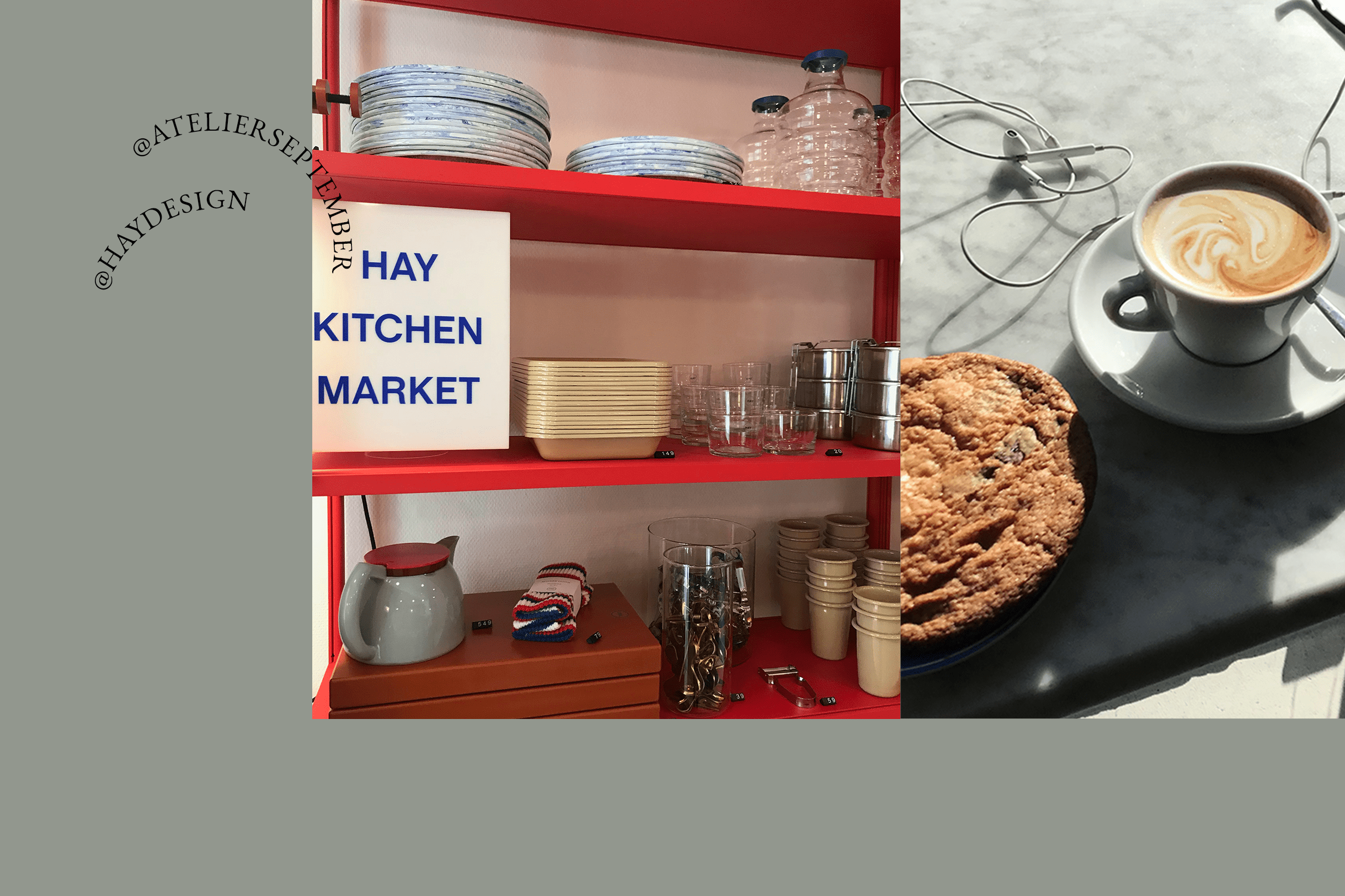 Coffee and cake in Atelier September and Hay Design in Copenhagen