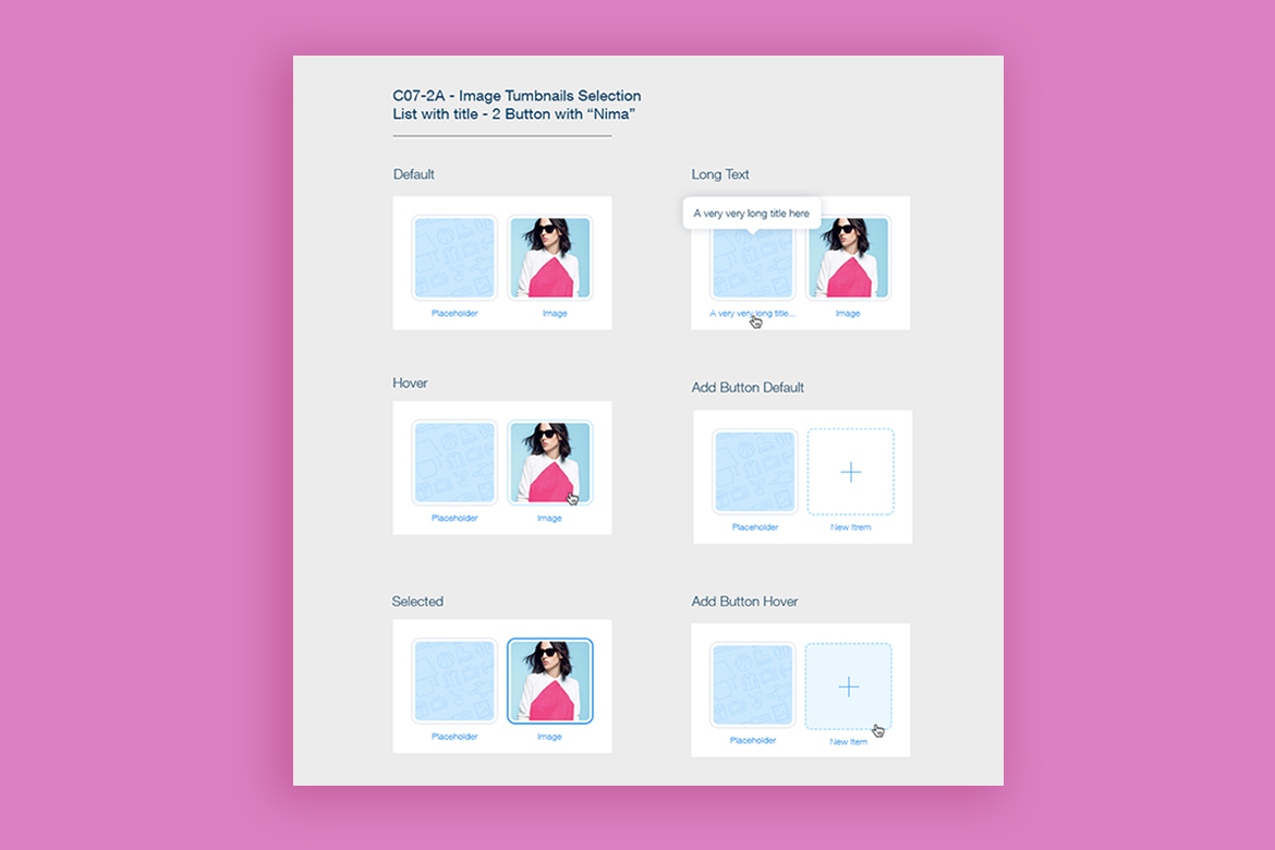 UI and UX design iterations of buttons