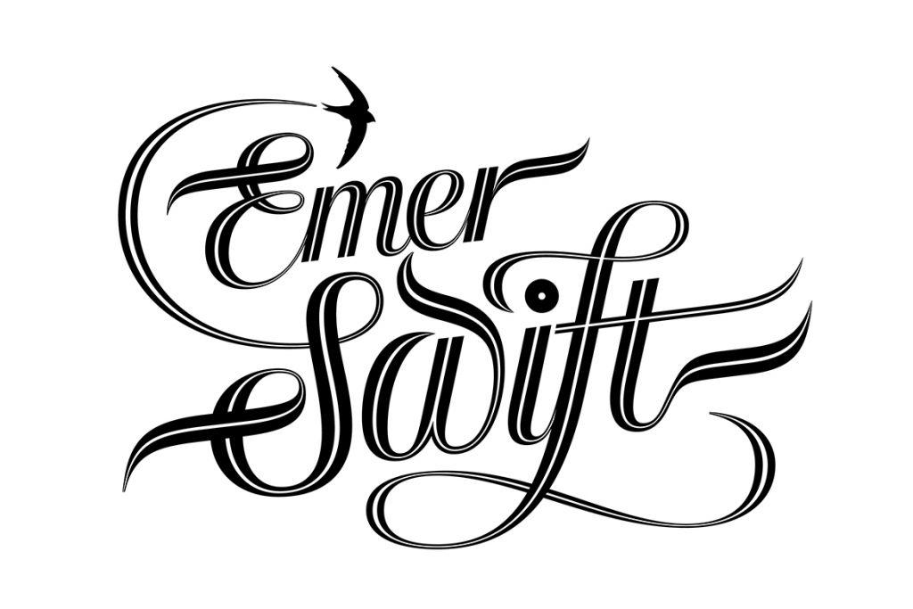 Seb Lester hand lettering logo for Emer Swift