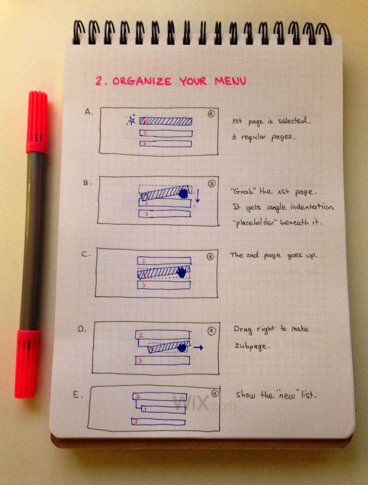 UX design user flows hand-drawn sketch
