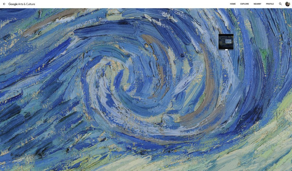 The Starry Night by Vincent van Gogh on Google Arts & Culture