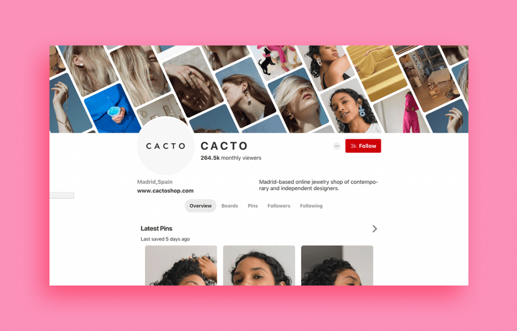 Cacto jewelry design shop on Pinterest