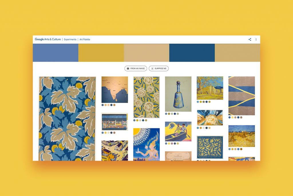 Google's Arts & Culture Art Palette Experiment